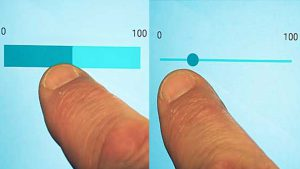 Investigating the Effect of Orientation and Visual Style on Touchscreen Slider Performance